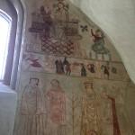 Dansende bønder på en fris i Ørslev Kirke - enestående af sin art