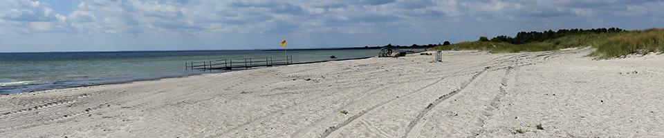 Sandstrand in Dänemark